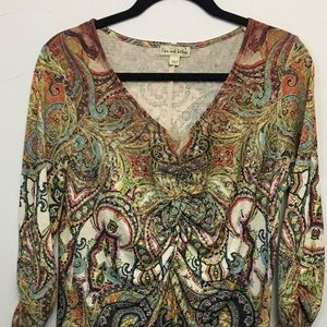 Live and Let Live LS casual top. Fun print!